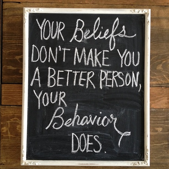 beliefs and behavior